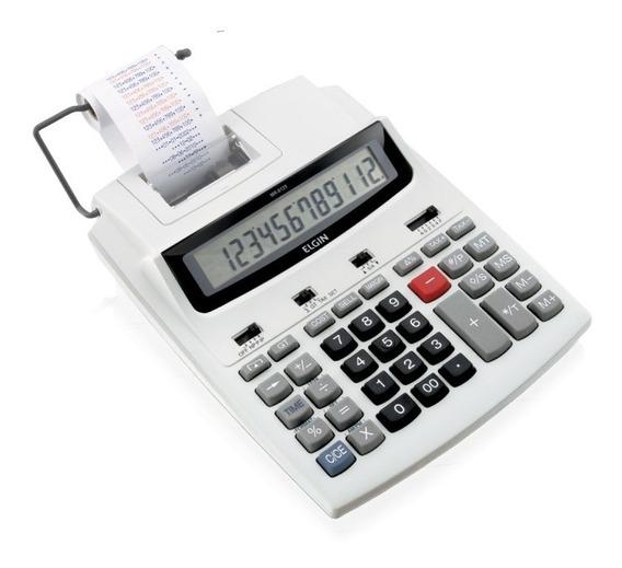 Calculadora De Mesa C/ Bobina Mr6125 Elgin