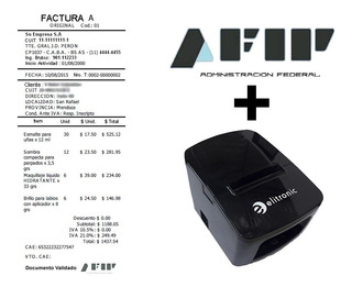 Impresora Ticket Factura Electronica Afip + Software