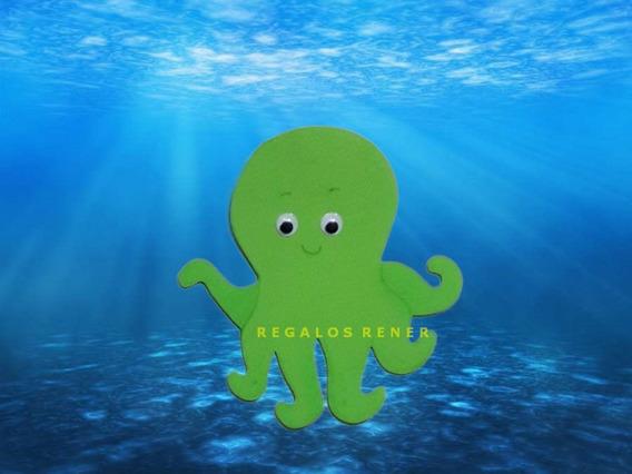 Animales Del Mar Figuras En Goma Eva 20 Cm Ojos Moviles