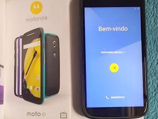 Smartphone Moto E 2a Geração Com Capinhas E Tv Digital