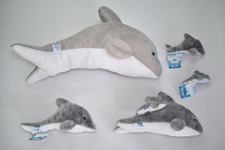 Familia De Delfines *4 + Delfín Con Bebé Mundo Marino