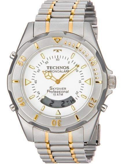 Relógio De Pulso Technos Skydiver Misto (t20557/9b)