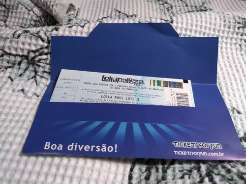 Ingresso Lollapalooza 2020- Meia-entrada (lolla Pass)