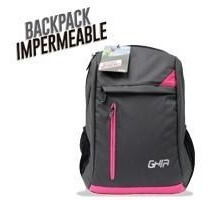 Mochila Backpack Ghia Resistente A Salpicaduras 15.6 Gris/ro