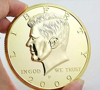 Replica Jumbo 3 Pulgadas De Oro Medio Dólar Moneda