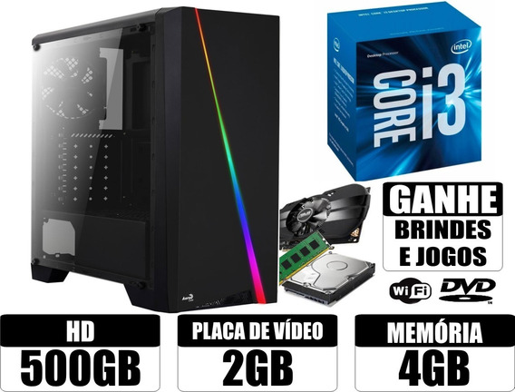 Computador I3 4gb 500gb Wi-fi + Brindes ( Gamer / Trabalho )