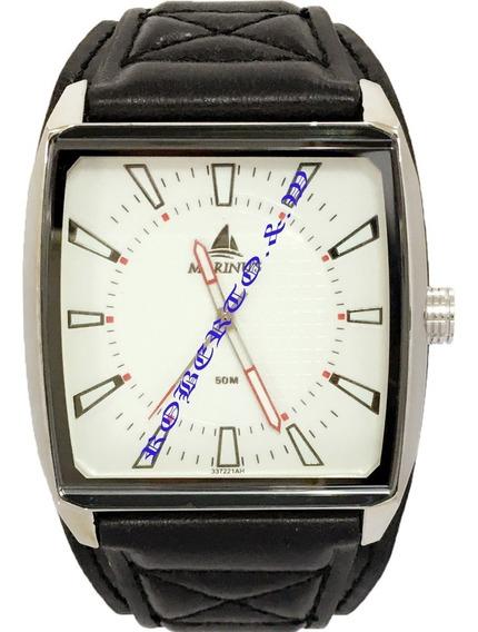 Relógio Masculino Pulseira Bracelete De Couro Pronta Entrega