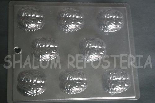 Imagen 1 de 3 de * Molde Chocolate 8 Cerebros Zombie Halloween Yeso Jabon