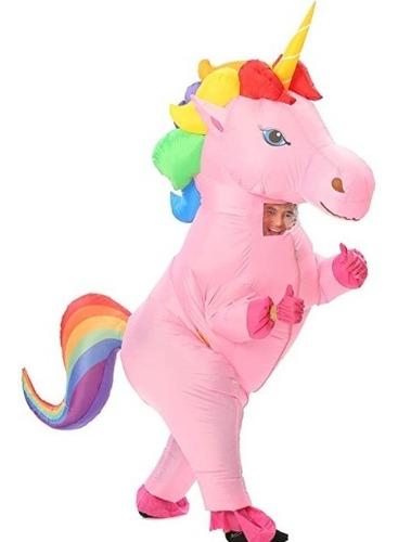 Imagen 1 de 3 de Disfraz Inflable De Unicornio Adulto - Modelos
