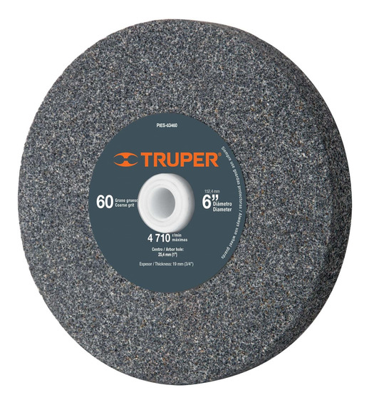 Piedra Para Esmeril 6 X 3/4 Oxido De Aluminio Grano 60 16349