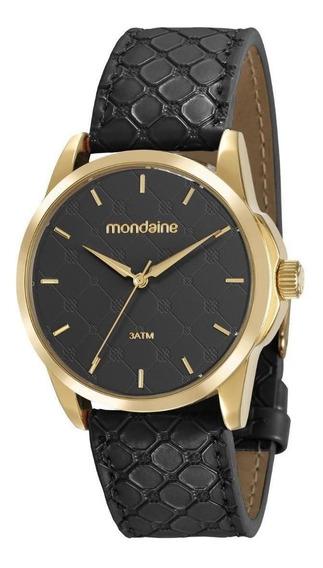 Relógio Mondaine 99344 Feminino Pulseira De Couro Preto