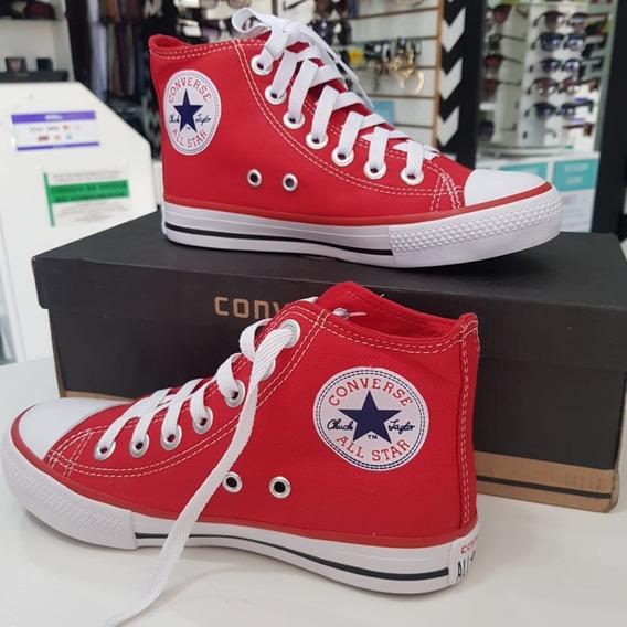 Tênis All Star Unissex Chuck Cano Alto Vermelho