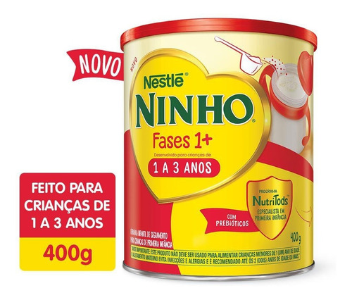 Imagem 1 de 1 de Kit 5 Leite Ninho Fases 1+ 400g Cada