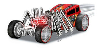 Brinquedo Road Rippers Hot Wheels Extreme Action Dtc 4767