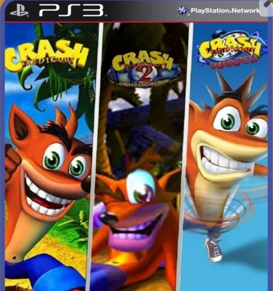 Crash Bandicoot 1 / 2 / 3 Ps3 Playstation 3 ( Clássico Ps1 )