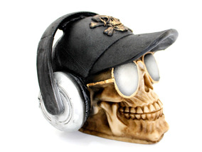 Crânio Boné Oculos Rayban Fone Headset De Ouvido Resina