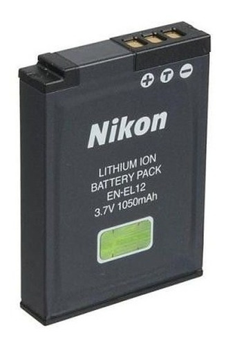 Imagem 1 de 6 de Bateria Original Nikon En-el12 P/ Câmeras Nikon Séries S