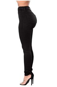 2 Calzas Jeans Leggins Tiro Alto Skinny Con Polar Colores