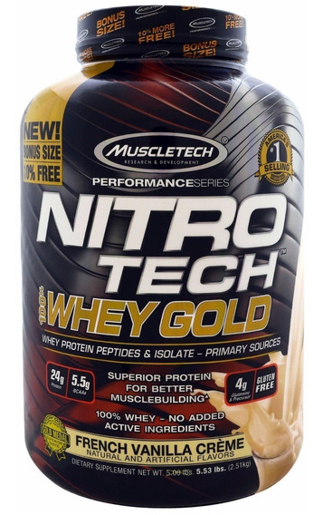 Proteina Muscletech Nitrotech 100% Whey Gold 5.5 Lbs Todos Los Sabores