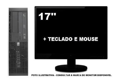 Imagem 1 de 5 de Computador Hp Dualcore 8gb Ddr3 120gb Ssd - Seminovo
