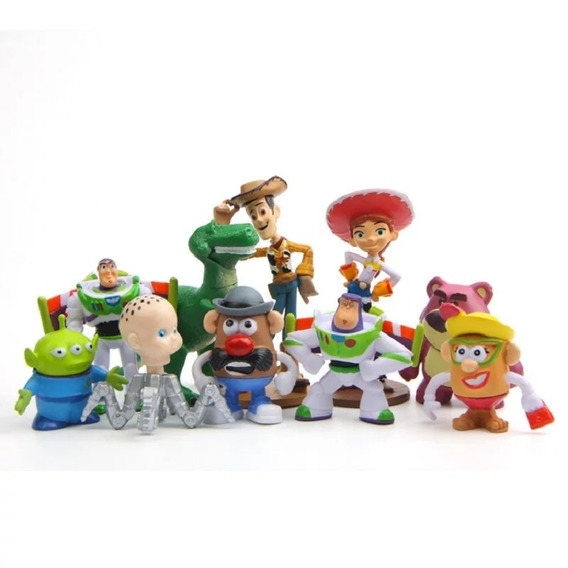 Kit Toy Story Com 10 Personagens Pronta Entrega