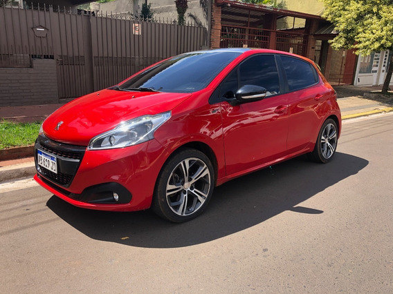 Peugeot 208 Gt Thp Turbo Deportivo 2017 Impecable 74 Mil Km