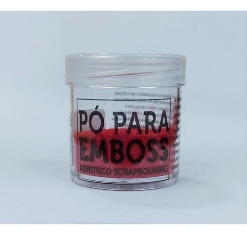 Imagem 1 de 1 de Repeteco - Pó Para Emboss Opaco - Cor Vermelho - 14gr