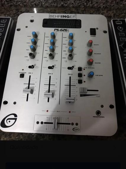 Mixer Gemini Ps626iEstéreo Com 3 Canais!