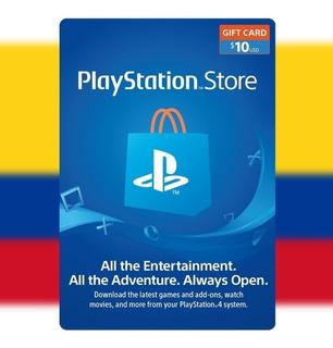 Psn 10 - Playstation Network 10 Usd - Cuentas Colombia