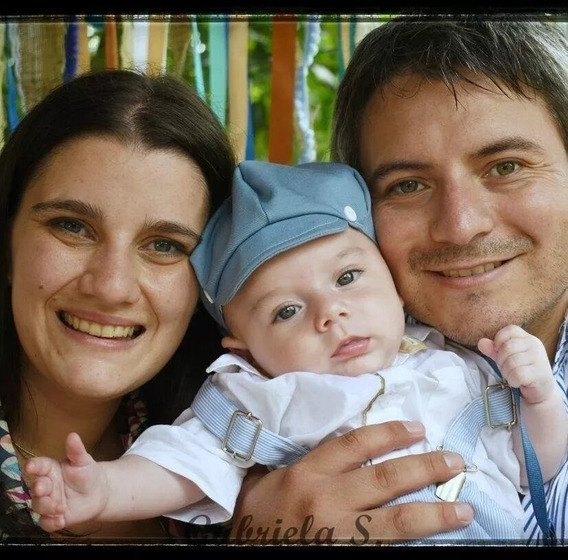 Conjunto Bautismo, Casamiento: Boina, Tirador, Moño, Bermuda