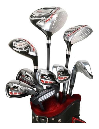 Imagen 1 de 7 de Set Completo Golf Powerbilt Acero 25% Off Golfargentino