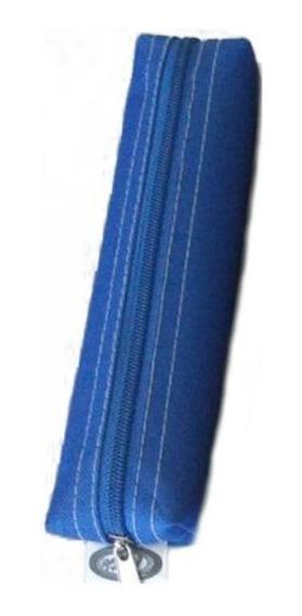 Estojo Simples Tactel School Fashion - Azul