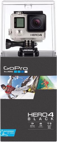 Imagen 1 de 3 de Go Pro Hero 4 Black 4k Lcd Touch Black Wi-fi, Bluetooth