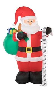 Inflable Santa Claus Lista De Regalos Luz 1.80m Envio Gratis