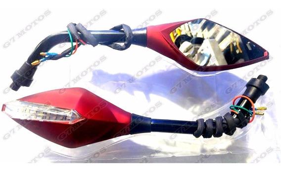 Retrovisor Original Honda Bros 125 150 160 Com Led Esportivo