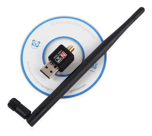 Imagen 1 de 2 de Adaptador  Wifi 802.iin Wireless Mini Usb Ade Ramos