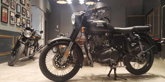 Classic 500cc Royal Enfield Stelht Black