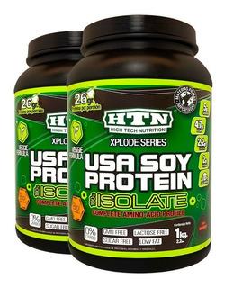 Usa Soy Protein 2 Kg Htn Apta Veganos Y Diabeticos Soja