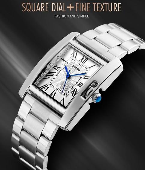 Relógio Branco Feminino Skmei 1284 Inox Quartzo Promoção