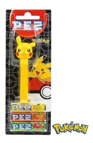 Pikachu Pokemon Dispenser Balas Pez Pastilha