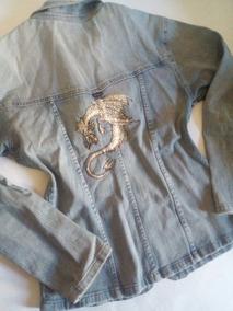 Jaqueta Jeans Feminina Ziper Cinturada