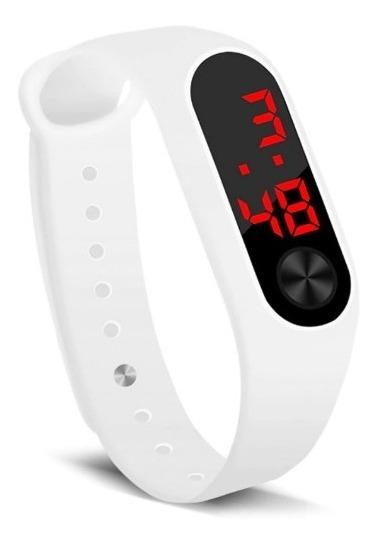 Relógio De Pulso Digital Esportivo Led Masculino Feminino Hora Data