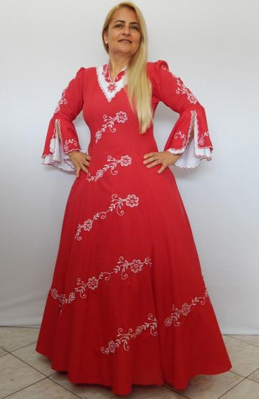 Vestido Prenda Vermelho Oxfordine Bordado Modelo Princesa