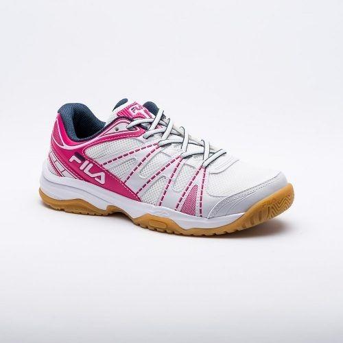 Tênis Fila Fearless Indoor Feminino - Branco/rosa