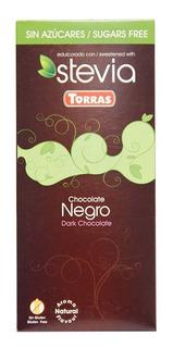 Chocolate Negro Stevia 100 Gramos Torras