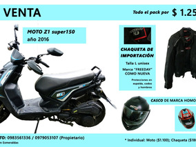 Moto Z1 150 ; Pack Con Casco Y Chaqueta