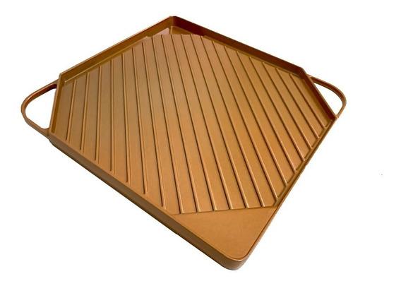 Parrilla Reversible Antiadherente Dual Copper Griddle Calida