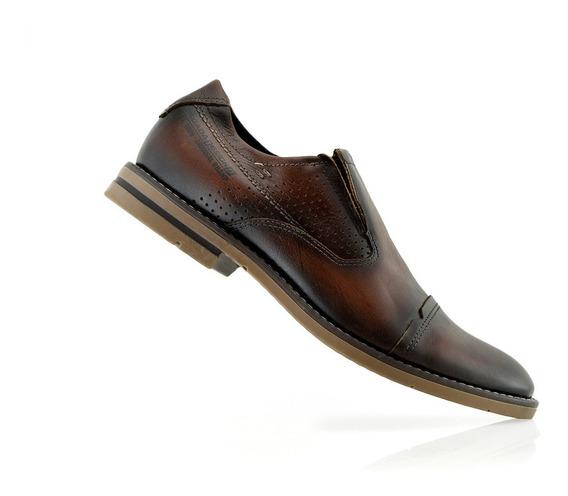 Zapatos Hombres Cuero Vestir 121974-06 Pegada Luminares