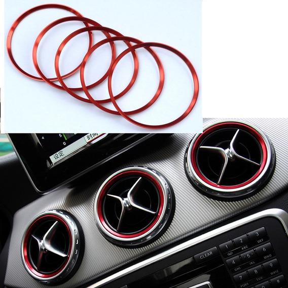 5 Molduras Saida Ar Condicionado Mercedes A200/a250 B Cla