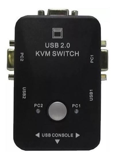 Switch Chaveador 2x1 Kvm Usb P/ Mouse Teclado Etc Promoção